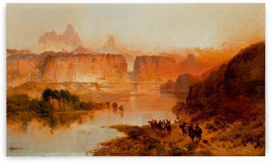 Green River, 1877 by Thomas Moran