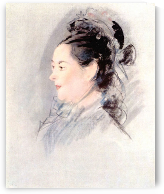 Lady with Hair Up by manet by manet