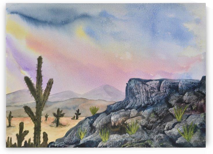 Southwest Landscape I by Linda Brody
