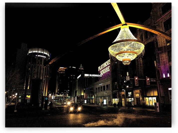 Playhouse Square   ink sketch by Ohio In Print