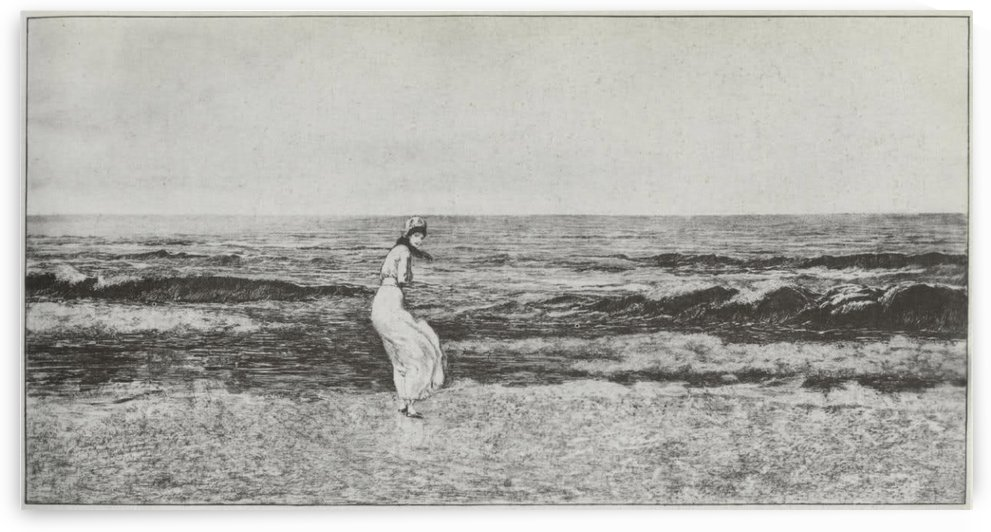 A young girl by the seaside by Max Klinger