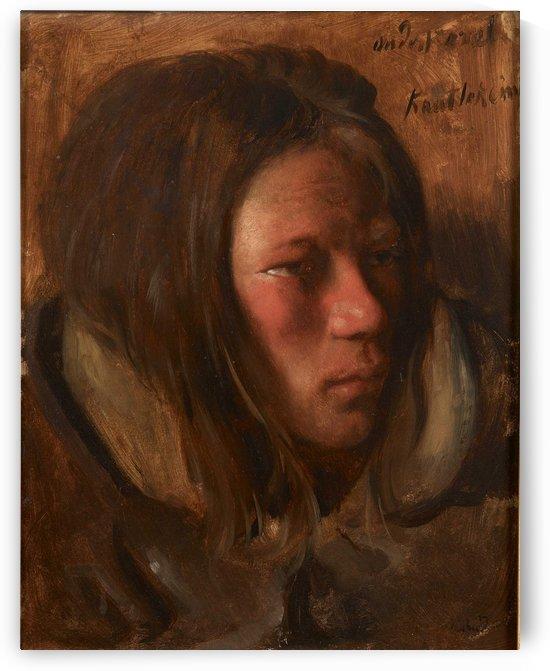 Portrait of a boy by Max Klinger