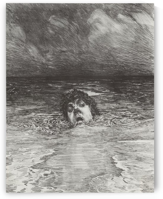 A man drowning by Max Klinger