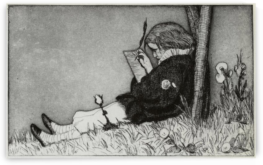 A young writer by Max Klinger