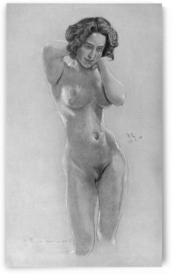 A nude woman by Max Klinger