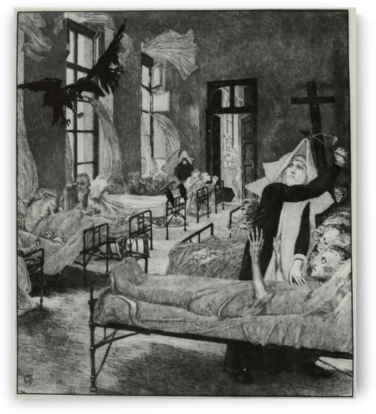 Taking care of the sick by Max Klinger