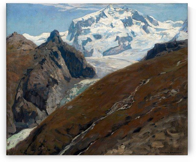 Monte Rosa vom Schwarzsee aus 1906 by Eugen Bracht