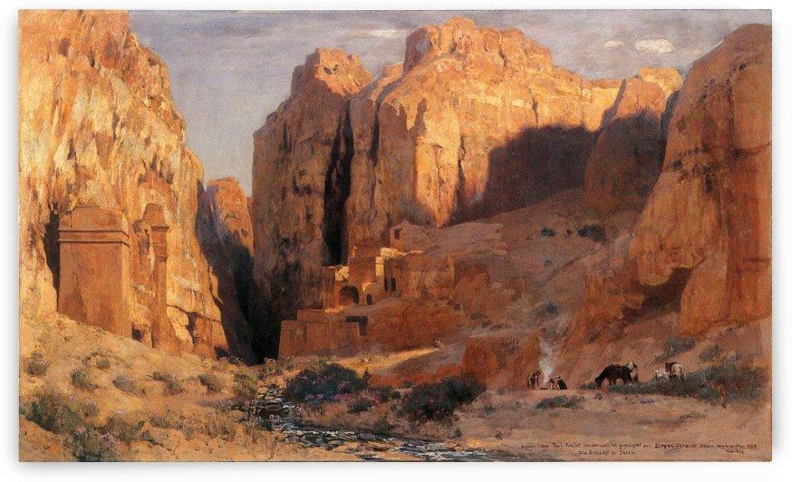 In der Graberschlucht von Petra by Eugen Bracht