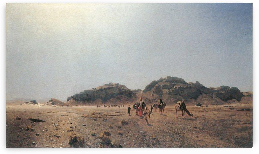 A caravan by Eugen Bracht