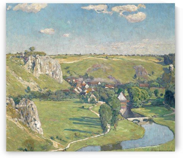 Schwabisches Dorf 1918 by Eugen Bracht