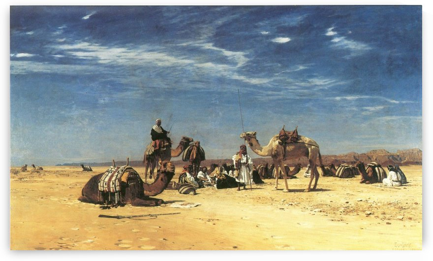 Rast in der Araba by Eugen Bracht