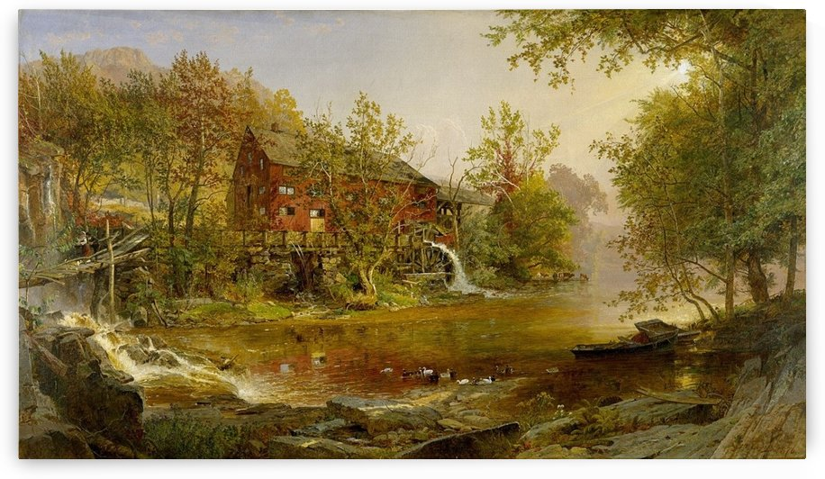 Old mill by Jasper Francis Cropsey
