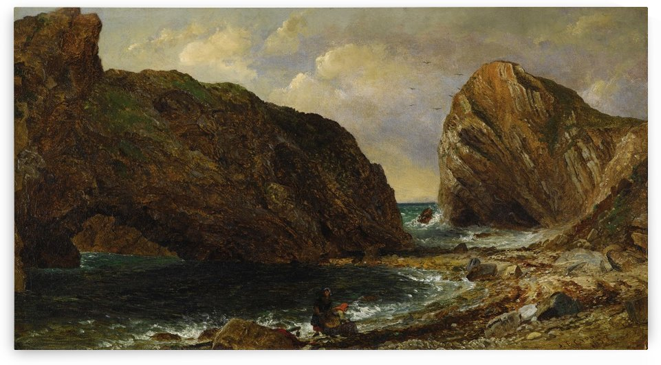 By the Sea Lulworth by Jasper Francis Cropsey