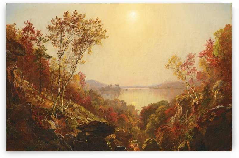 Autumn detail by Jasper Francis Cropsey
