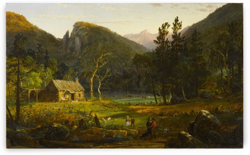 Eagle Cliff Franconia Notch New Hampshire by Jasper Francis Cropsey