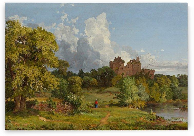 Doune Castle by Jasper Francis Cropsey