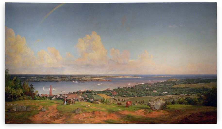 The Narrows from Staten Island by Jasper Francis Cropsey
