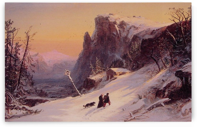 Cropsey Winter in Switzerland by Jasper Francis Cropsey