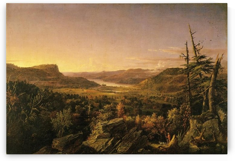 View of Greenwood Lake New Jersey by Jasper Francis Cropsey