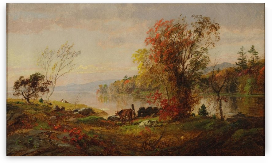 A cow by the lake by Jasper Francis Cropsey