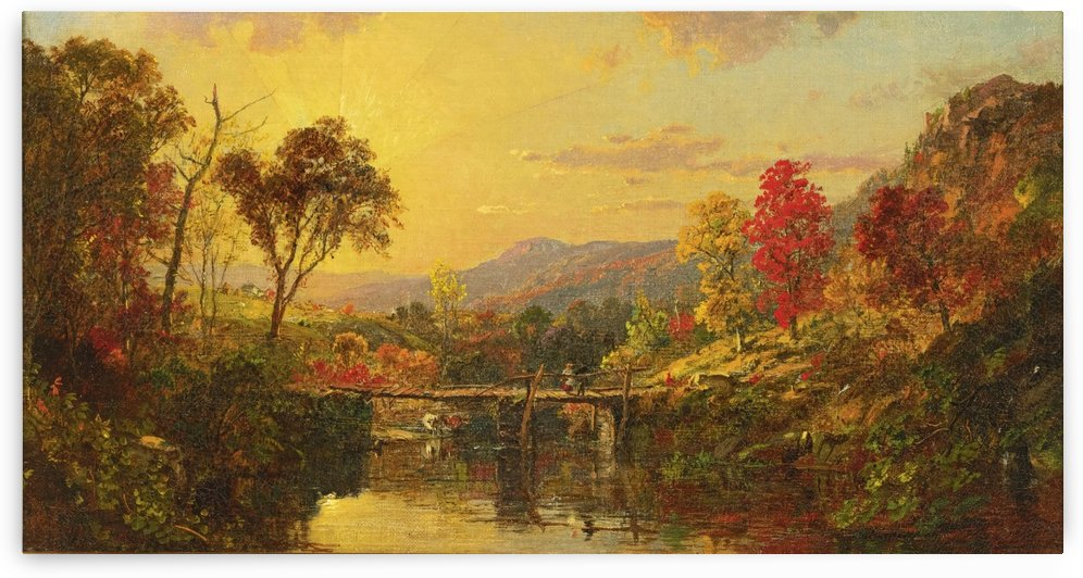 The pond in springtime by Jasper Francis Cropsey