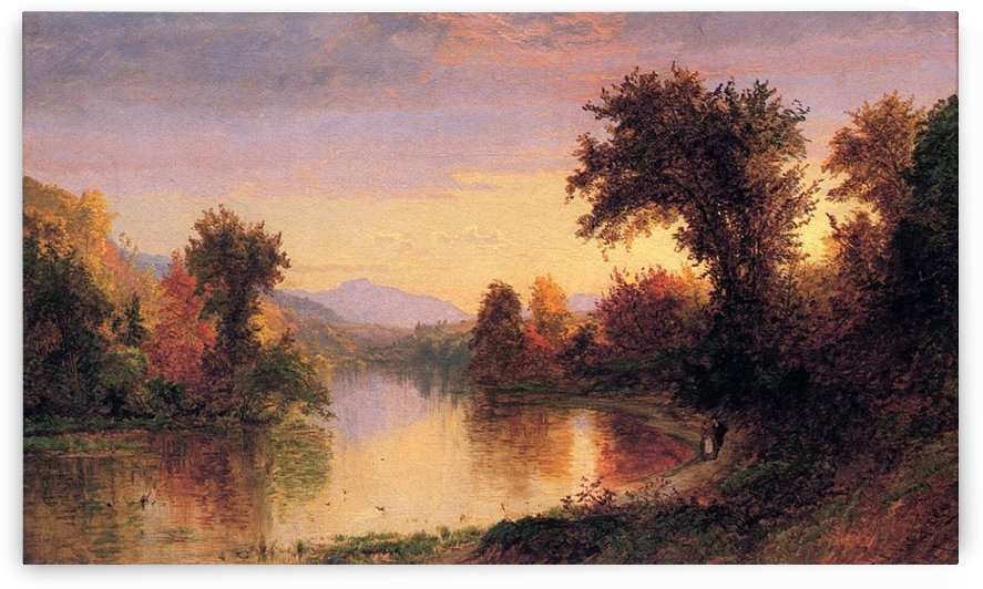 Greenwood Lake at Twilight by Jasper Francis Cropsey