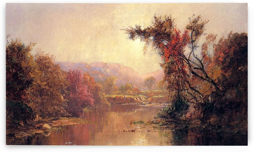By the River 1875 by Jasper Francis Cropsey