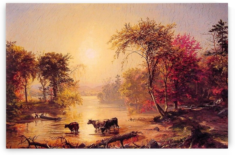 Autumn by the River 1871 by Jasper Francis Cropsey