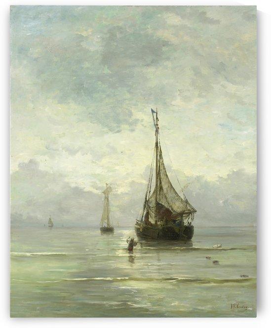 Kalme zee by Hendrik Willem Mesdag