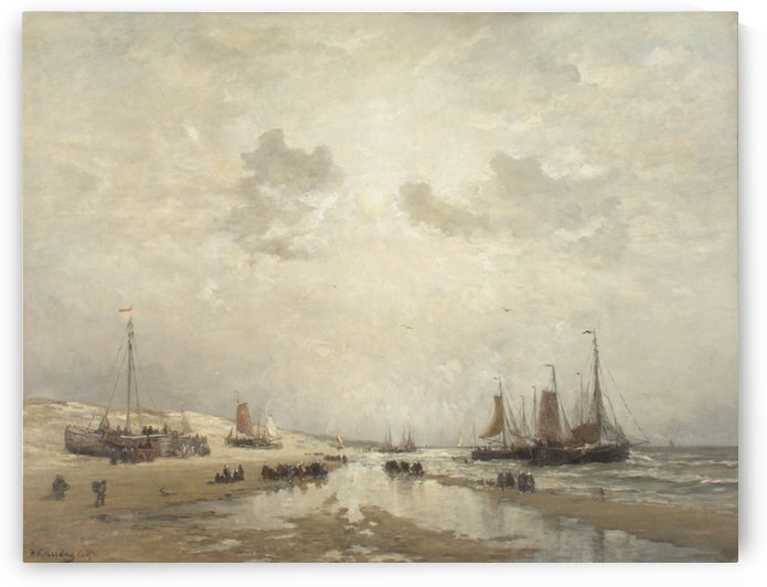 Manana en Scheveningen by Hendrik Willem Mesdag