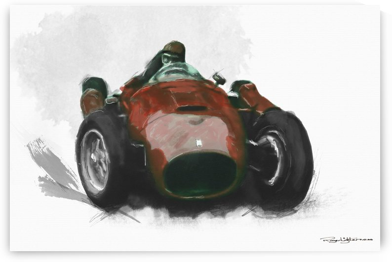 Juan Manuel Fangio - Lancia Ferrari D50 by Roger Lighterness