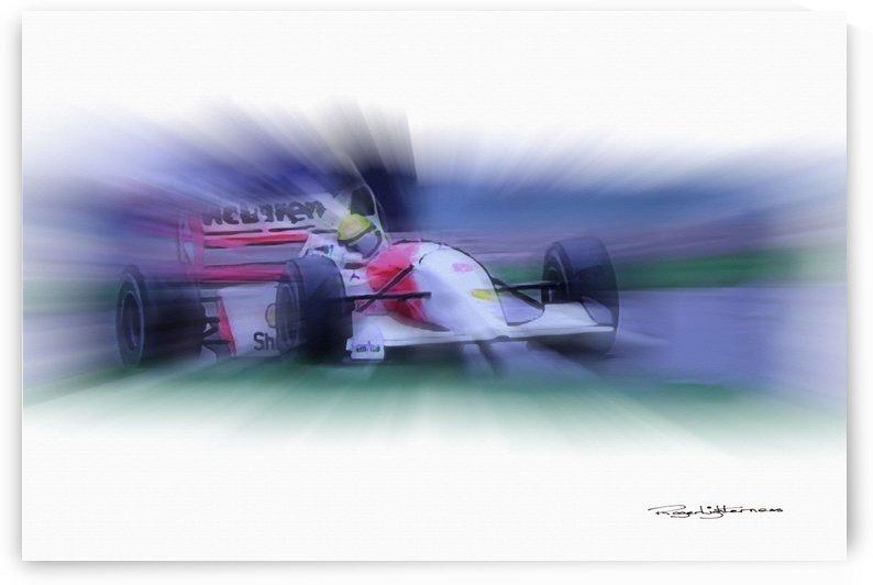 Ayrton Senna Donington Park by Roger Lighterness