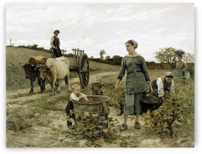 Gathering the harvest by Edouard Bernard Debat-Ponsan