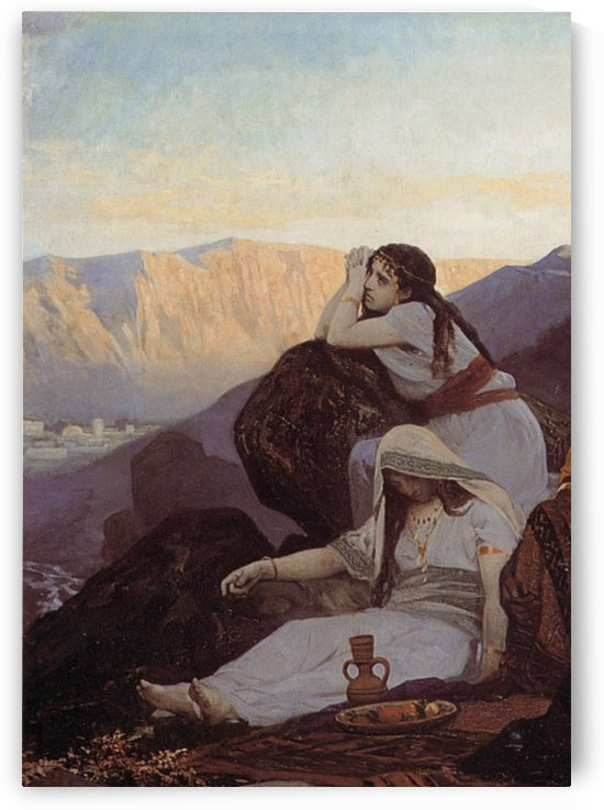Oriental women by Edouard Bernard Debat-Ponsan