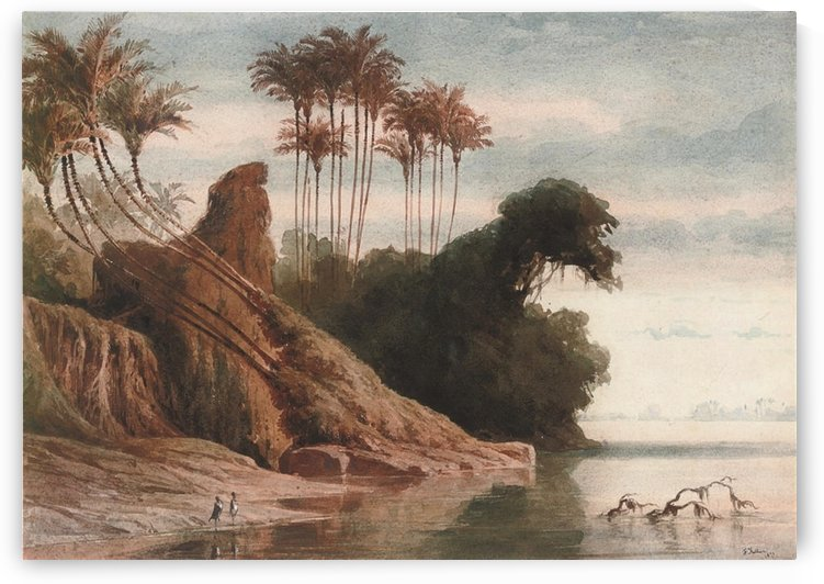 Brasilianische Flusslandschaft by Ferdinand Keller