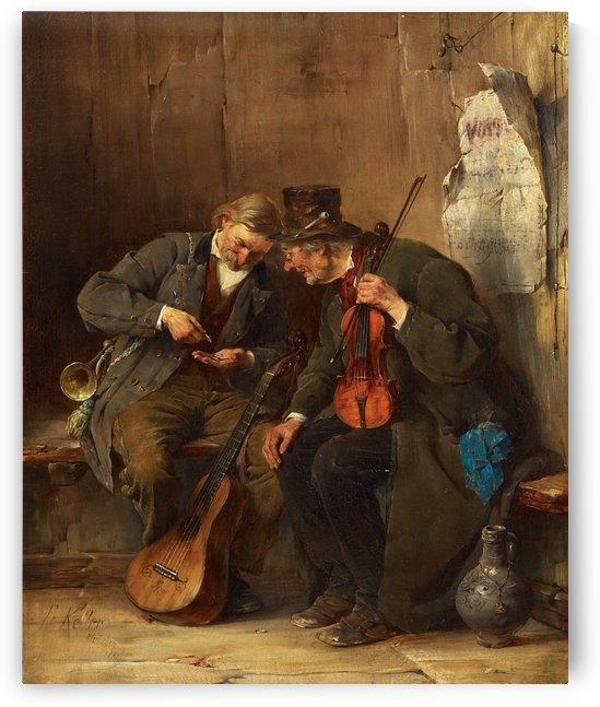 Singers counting their money by Ferdinand Keller