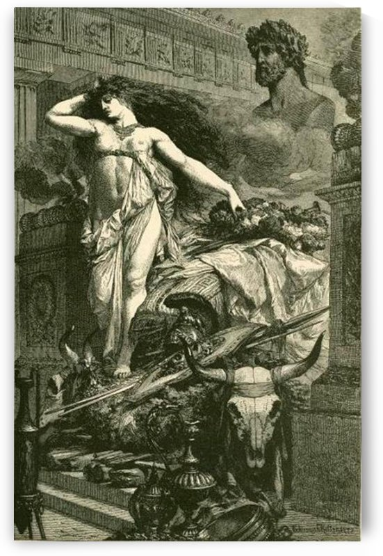 Dido On The Funeral Pyre by Ferdinand Keller
