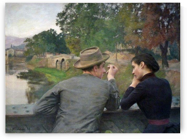 Les Amoureux Muse by Emile Friant