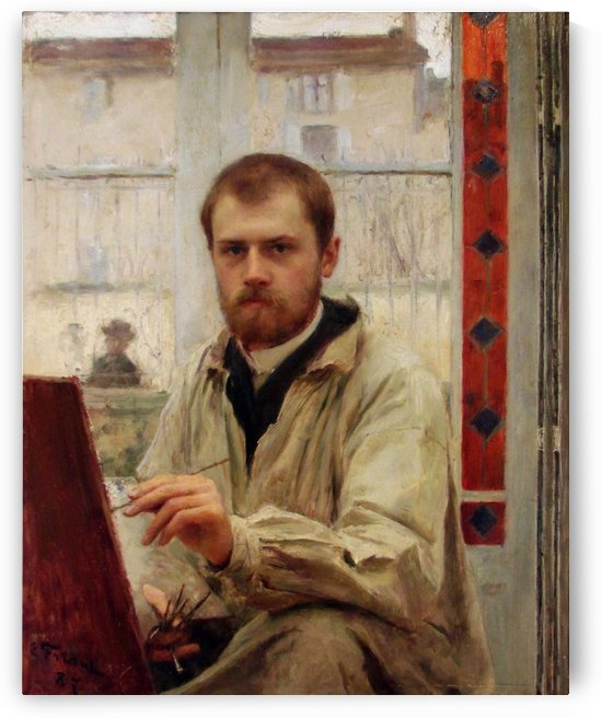 Self portrait 1887 by Emile Friant