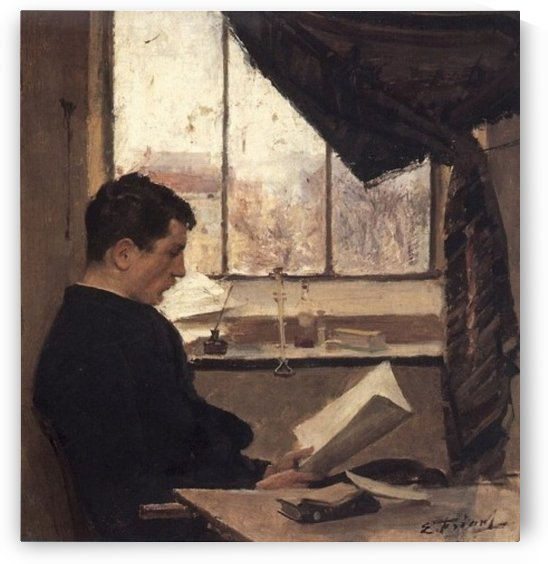 A student by Emile Friant