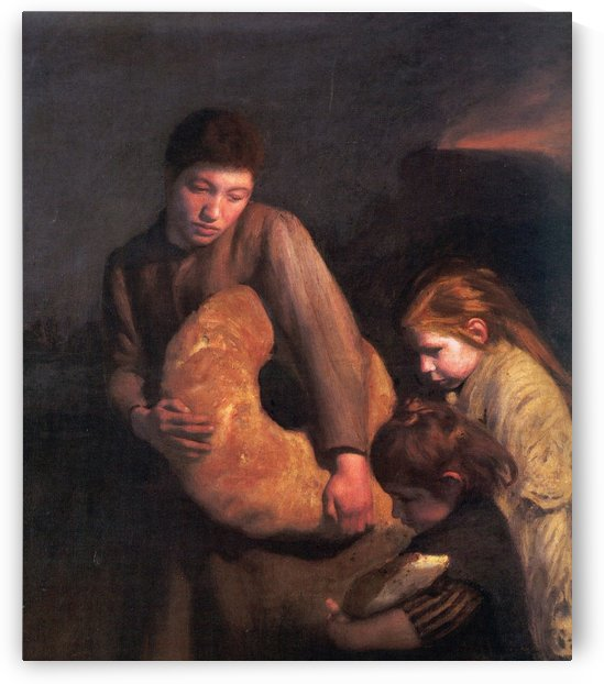 Maternal Tenderness by Emile Friant
