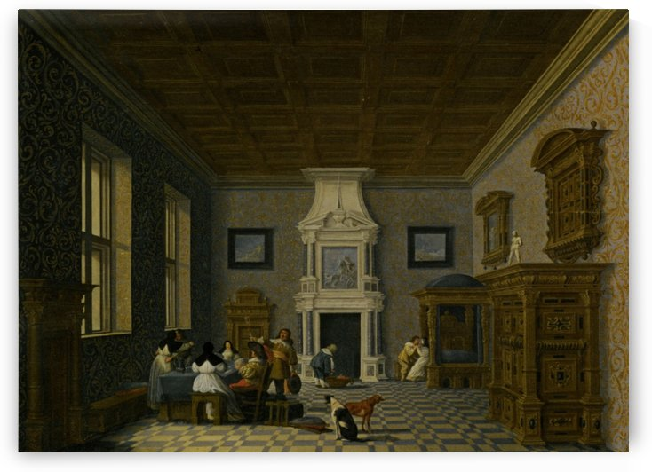 A Palace Interior by Dirck van Delen
