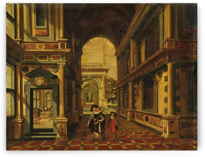 The Great Hall of the Binnenhof in The Hague 1651 by Dirck van Delen