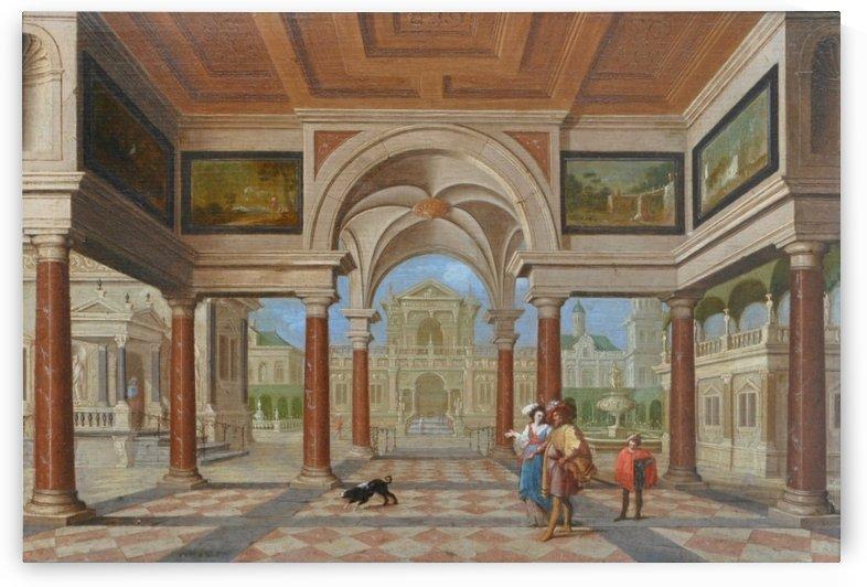 Festive Company in a Renaissance Room by Dirck van Delen