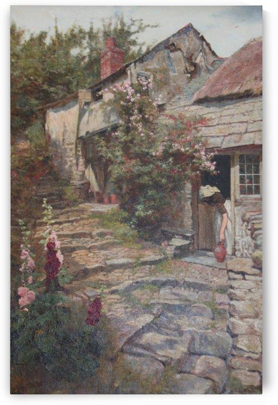 A village site by Edward Wilkins Waite