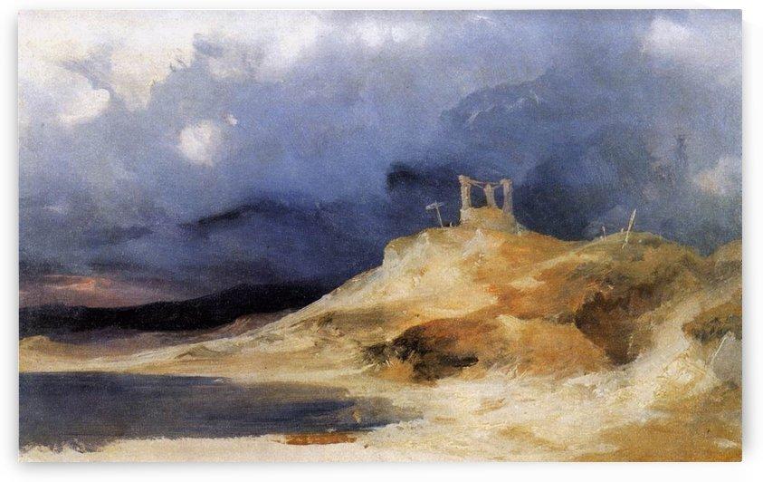 Galgenberg bei Gewitterstimmung by Carl Eduard Ferdinand Blechen