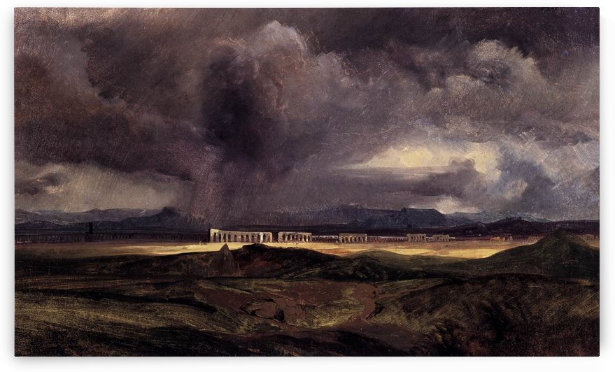 Stormy Weather over the Roman Campagna by Carl Eduard Ferdinand Blechen