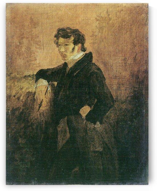 Portait de Carl Blechen by Carl Eduard Ferdinand Blechen