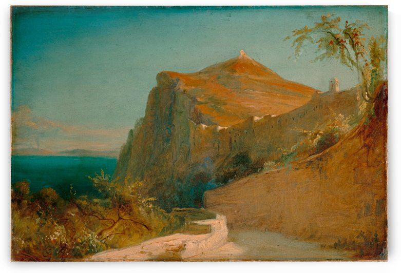 Tiberiusfelsen auf Capri by Carl Eduard Ferdinand Blechen