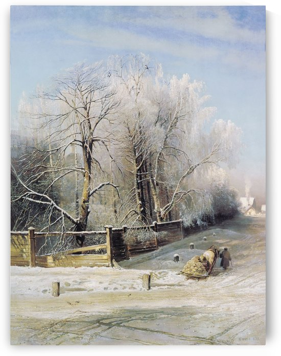 Winter landscape of Russia by Alexei Kondratyevich Savrasov